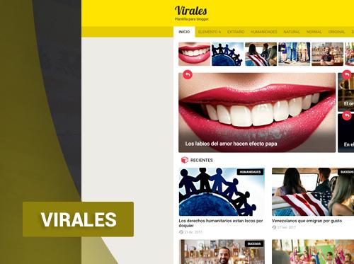 Virales  – plantilla para noticias responsive, blogger