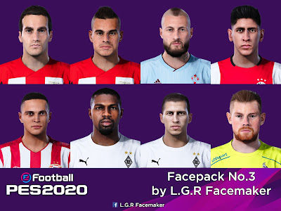 PES 2020 Facepack No.3 by L.G.R Facemaker