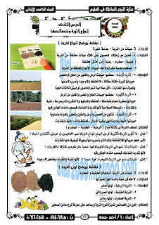 مذكرة علوم للصف الخامس الابتدائى الترم الثانى 2019 للاستاذ احمد حمدي