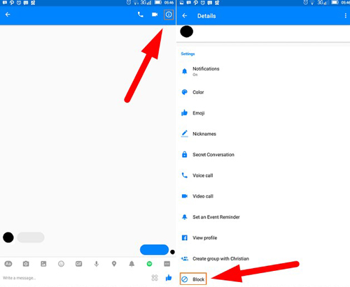 how to delete someone on messenger