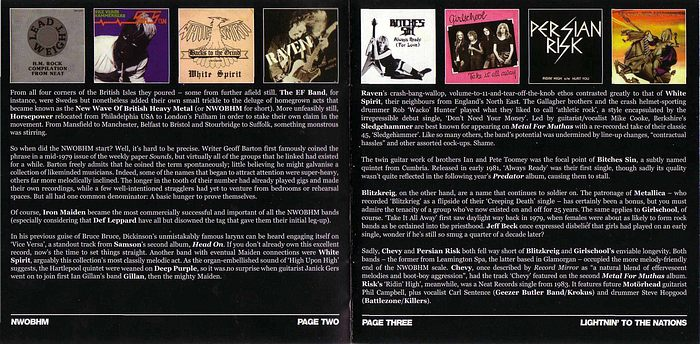 VA - Lightning To The Nations; NWOBHM 25th Anniversary Collection (Disc 1) booklet