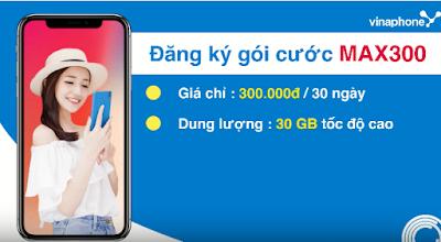 Gói cước 4G MAX300 Vinaphone