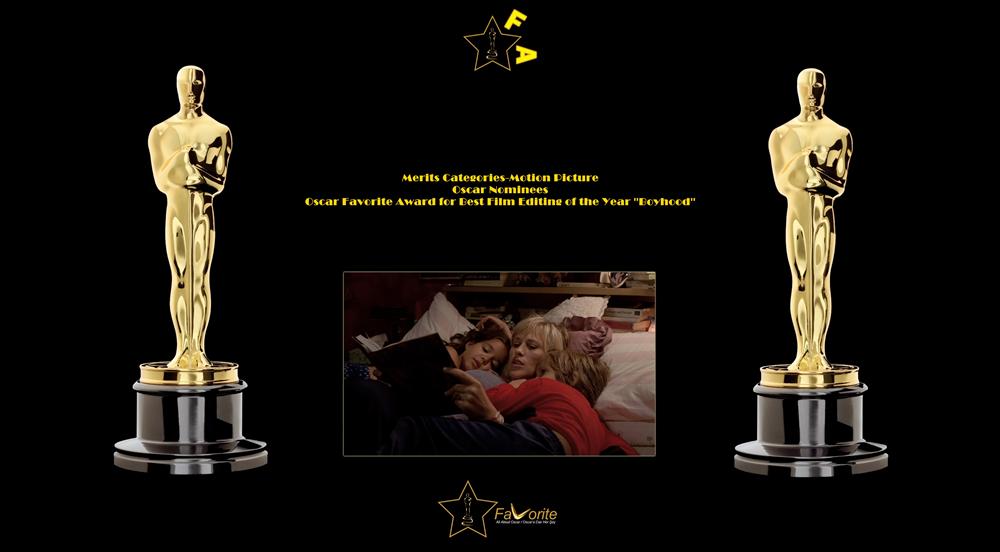 oscar favorite best film editing award boyhood