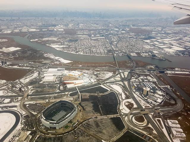 Vista desde el avión de Nueva York
