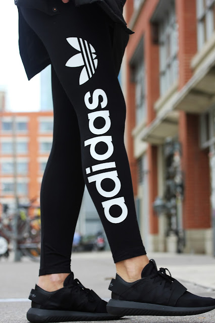 adidas leggings and sneakers