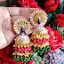 Multi color meenakari earrings