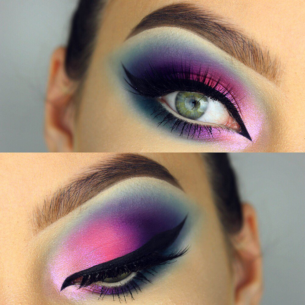 Maquiagem sombra colorido carnaval