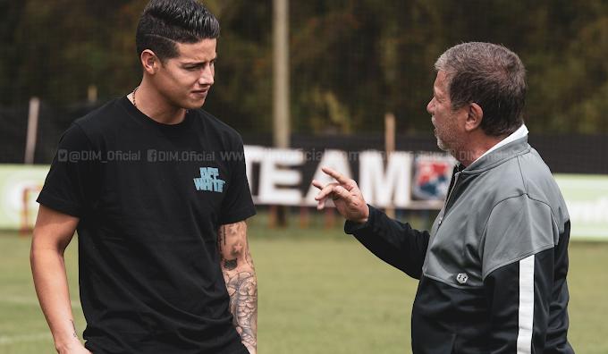 Tras ser descartado por la Selección Colombia, James Rodríguez visitó al DIM: Invitado de lujo del 'Bolillo' Gómez