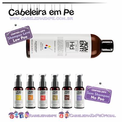 Linha Pigments - Alfaparf (Shampoo Hd Liberado para Low Poo - Pigmentos (Gd Cp Rd Ag Gm Va) Liberados para No Poo