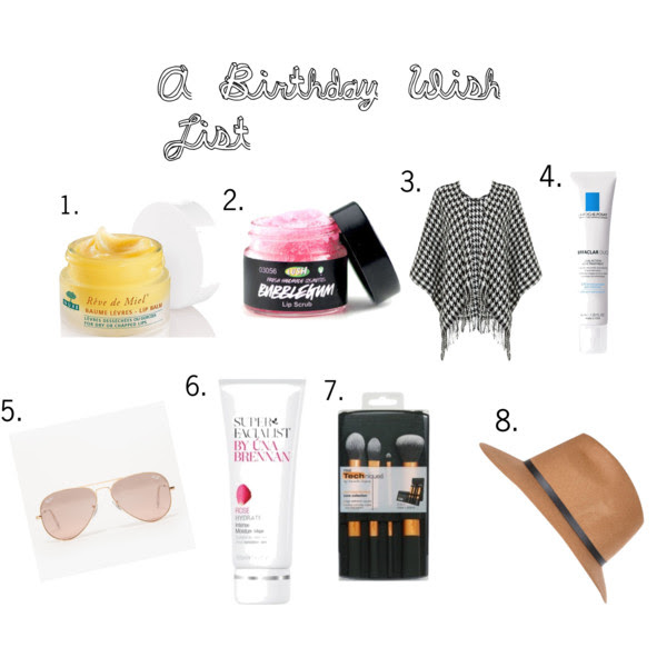 Birthday beauty and fashion wish list