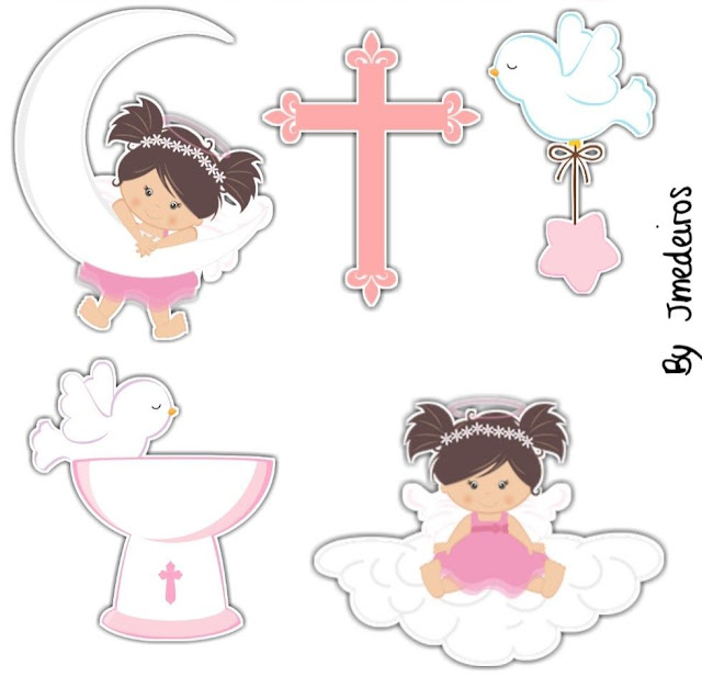 Little Girl First Communion: Free Printable Cake Toppers.