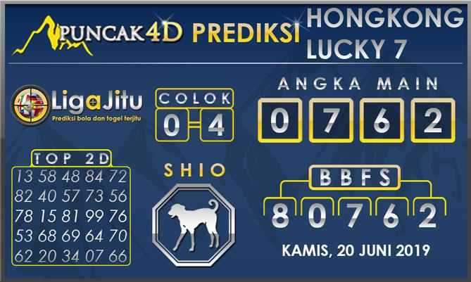 PREDIKSI TOGEL HONGKONG LUCKY7 PUNCAK4D 20 JUNI 2019