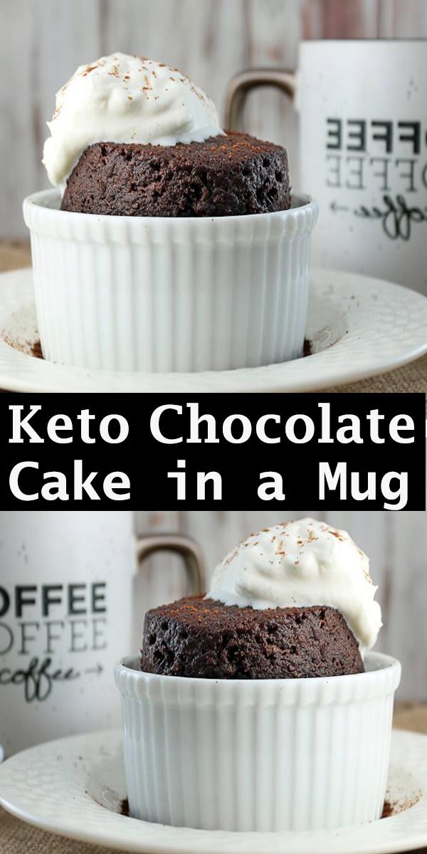 Keto Chocolate Cake in a Mug #Keto #Chocolate #Cake in a #Mug #KetoChocolateCakeinaMug