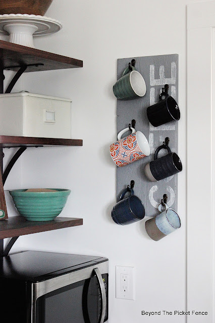 Easy DIY Coffee Mug Rack