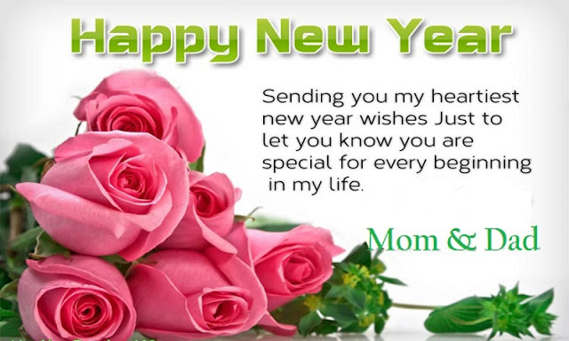 Happy New Year 2020 Wishes for Mom & Dad