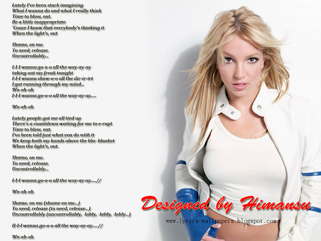 Lyrics Wallpapers: Britney Spears - I Wanna Go