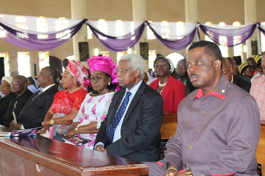 Picture of Governor Willie Obiano at the Funeral of Bishop Okafor