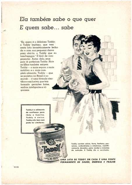 Propaganda antiga do Toddy apresentado no começo dos anos 50