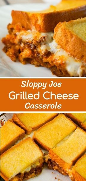 Sloppy Joe Grilled Cheese Casserole #recipes #dinnerrecipes #easydinnerrecipes #easydinnerrecipesforfamily #quickdinnerrecipes #food #foodporn #healthy #yummy #instafood #foodie #delicious #dinner #breakfast #dessert #lunch #vegan #cake #eatclean #homemade #diet #healthyfood #cleaneating #foodstagram