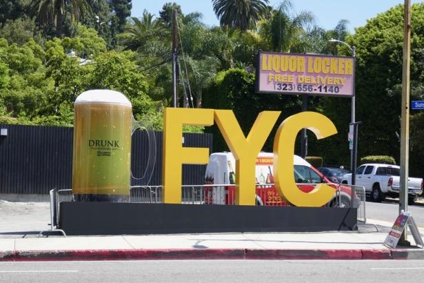 Drunk History giant beer mug FYC 3D Sunset Strip