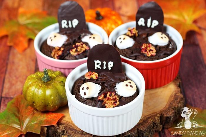 Dyniowe brownie na Halloween (bez glutenu, cukru białego, laktozy)