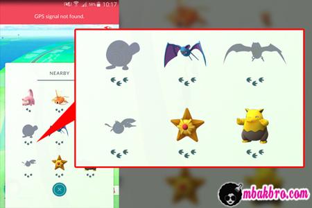 cara mencari pokemon terdekat