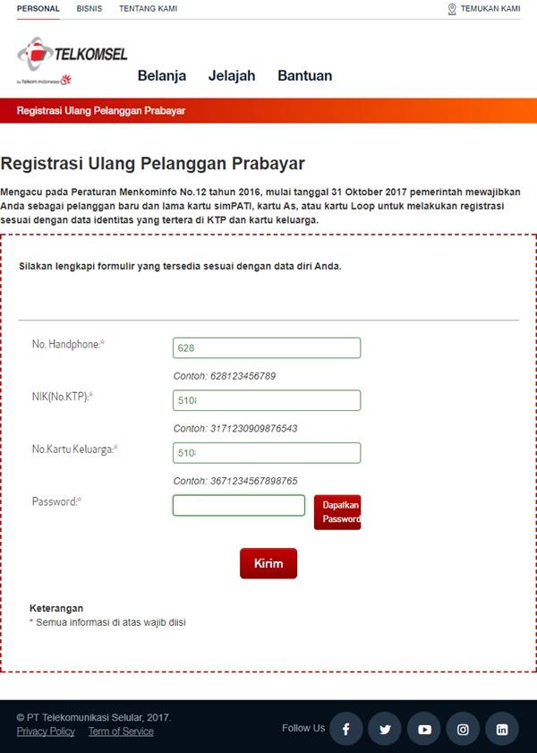 Cara Registrasi Ulang Kartu Simpati Prabayar  akriko.com