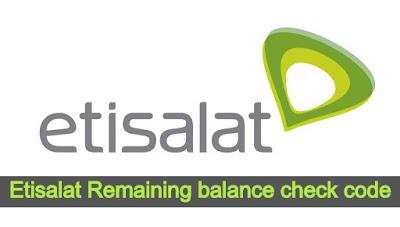 Etisalat balance check code 2020 - etisalat balance check ussd code