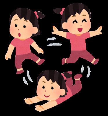 落ち着きのない子供のイラスト(女の子)