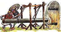 Соколом на Руси называли таранное стенобитное орудие из железа или дерева