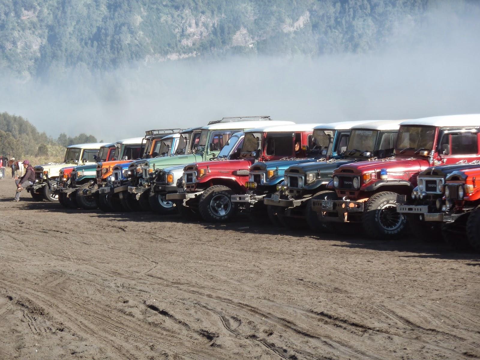 Sewa jeep di Bromo