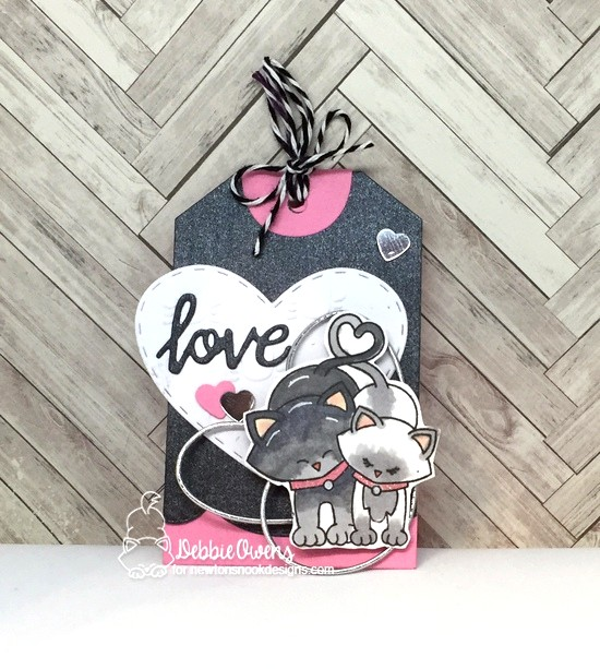 Love by Debbie features Newton's Sweetheart, Darling Heart, and Fancy Edges Tag by Newton's Nook Designs; #newtonsnook