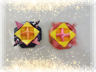 Tutorial how to make origami spinning top