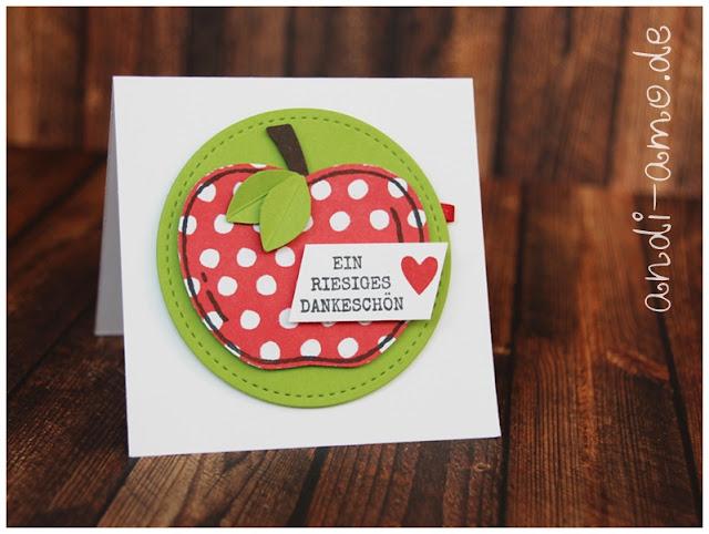 Minikarte Stampin Up Ernte-Gruss-Fest Apfel
