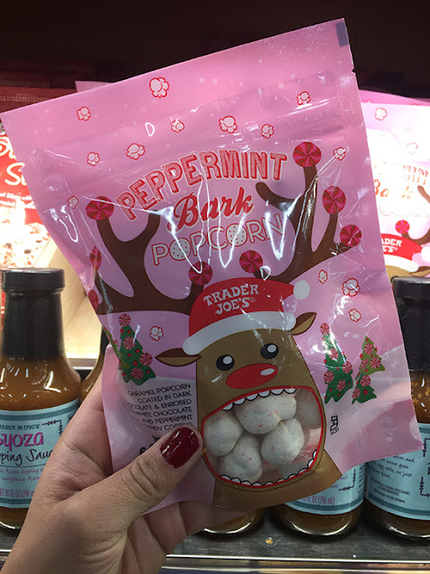 Trader Joe's Peppermint Bark Popcorn Review | Will Bake for Shoes