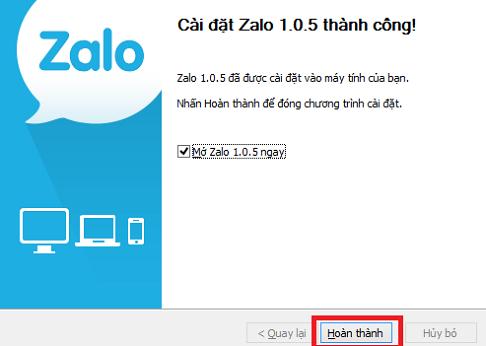 Cài đặt Zalo trên máy tính, PC c