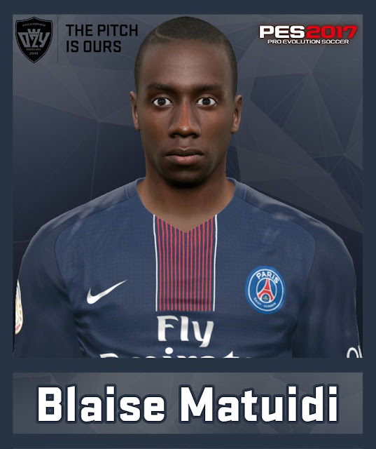 PES 2017 / PES 2016 Blaise Matuidi (Paris Saint-Germain) Face by Ozy_96 PESMOD