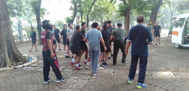 Kawasan Monas Ditutup, Ledakan Keras Bikin Anggota TNI Sedang Olahraga Berlumur Darah