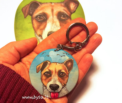 Sassi dipinti e portachiavi  cane  prezzi
