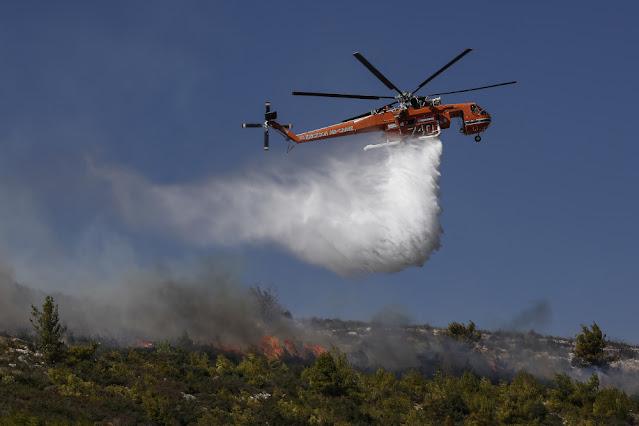 Μεγάλη κινητοποίηση πυροσβεστικών δυνάμεων για πυρκαγιά στην ορεινή Αργολίδα