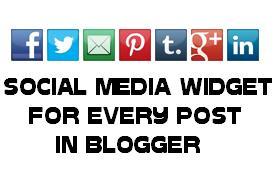 Social Media Below Post Footer