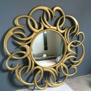cermin bulat acak