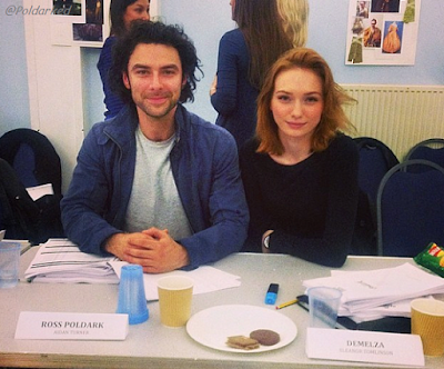 Poldark readthrough , Aidan Turner, Eleanor Tomlinson