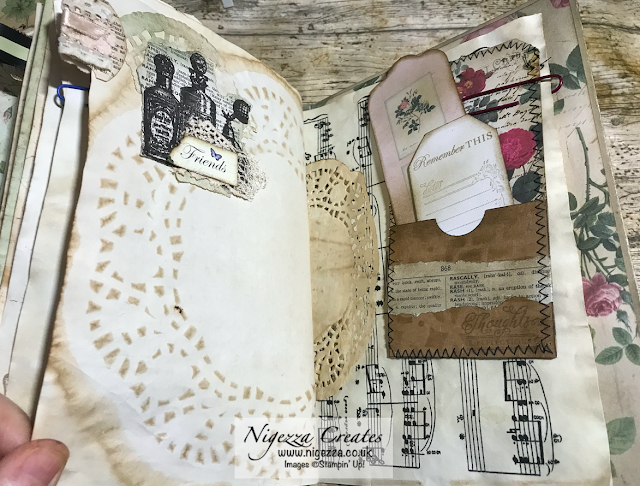 Nigezza Creates My First Junk Journal: Finishing Off Pages #1