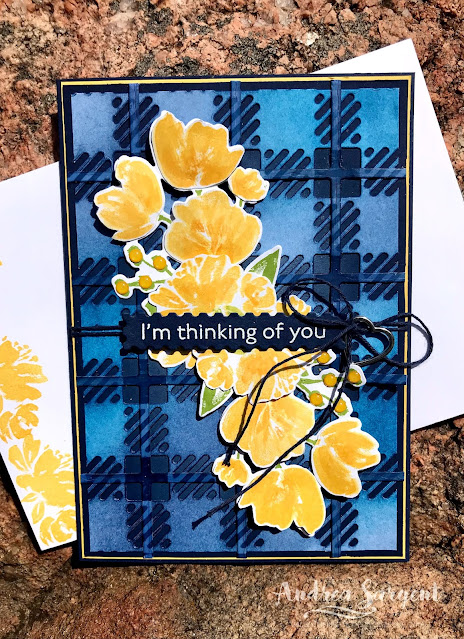 Night of Navy Art Gallery and Best Plaid Builder Stampin Up card, Andrea Sargent, Independent Stampin' Up Demonstrator, Adelaide foothills, Valley Inspirations, Australia