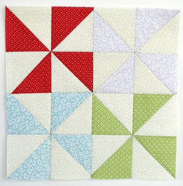 Pinwheels Quilt Block Tutorial