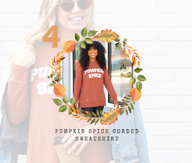 Pumpkin Spice Corded Sweatshirt