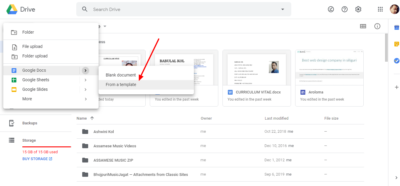 How to Create Biodata Online Using Google Drive