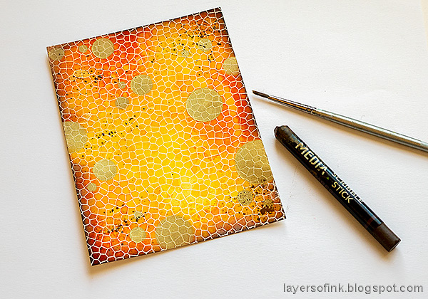 Layers of ink - Shiny Autumn Card Tutorial by Anna-Karin Evaldsson. Simon Says Stamp Document it stamp set.