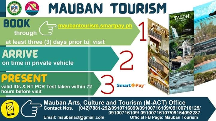 Mauban Quezon Tourism Guide and requirements